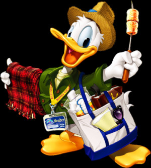 Donald Duck Selling Things