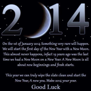January 2014 ~ Special Moon Phases!