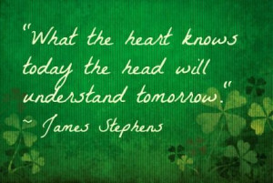 ... love quote from an Irish writer! Do you agree? via babble.com