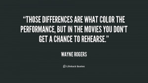 Those differences are what color the performance, but in the movies ...