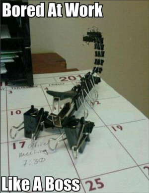 Funny Things People Do When They Get Bored At Work – 28 Pics