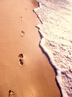 ... want to leave footprints in the sands of time, don't drag your feet