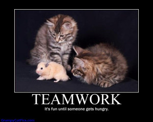 Teamwork, It's Fun Until Someone Gets Hungry ""