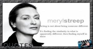 Meryl Streep Quotes. Created by HRCine (Historiasyrelatos3)
