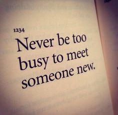 Meeting Someone New