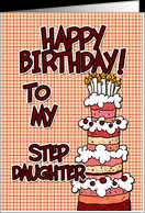 Happy birthday to my step daughter card - Product #379419
