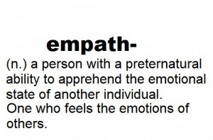 ... empathic to the stress of those around me which makes me an empath