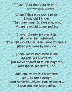 step parent quotes and poems | love you like youre mine