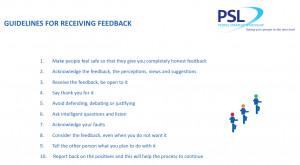 Receiving Feedback The Feedback Four step Model