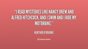 read mysteries like Nancy Drew and Alfred Hitchcock, and I swim and ...