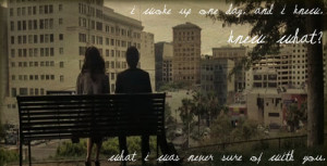 500 days of summer quotes end scene park bench last talk