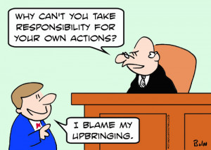 Cartoon: blame upbringing responsibility (medium) by rmay tagged blame ...