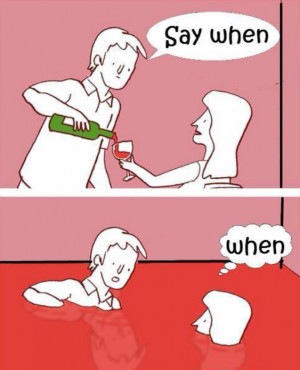 Funny cartoon – Drinking wine