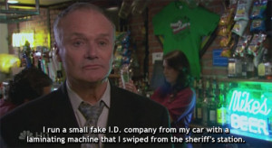 The Office Quotes Creed Balhh as creed bratton