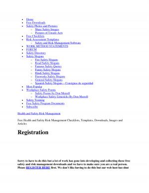 Ohsas Audit Checklist Templates