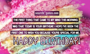 Happy Birthday Quotes & Sayings
