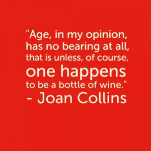 Joan Collins ( actress ) quote on Aging
