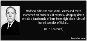... death astride a bacchanale of bats from nigh-black ruins of buried