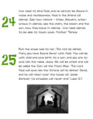 SALE Advent Calendar filler PDF. Inspirational quotes
