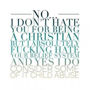 don't hate you for being Christian