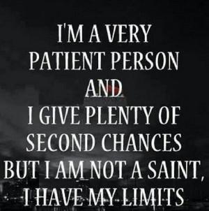 But I am not a Saint