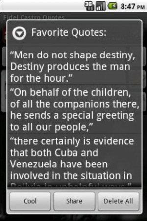 View bigger - Fidel Castro Quotes for Android screenshot