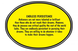 Rigor is NOT a Four-Letter Word: Importance of Persistence