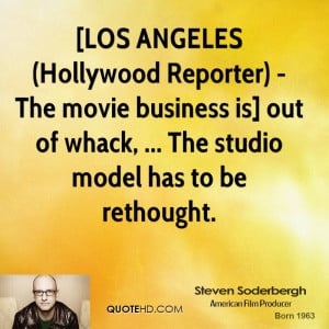 LOS ANGELES (Hollywood Reporter) - The movie business is] out of ...