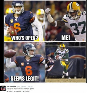 ... Green Bay Packers @ Chicago Bears, Score: 38-17 Photo by @NFL_Memes