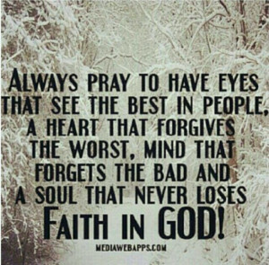 Never lose Faith in GOD!