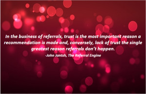 Business Referral Quotes for Cards