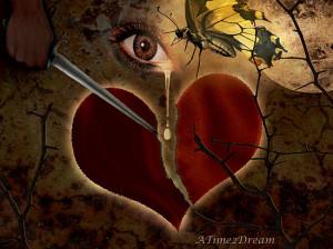 Broken Hearts With Knife Broken,heart,butterfly,knife