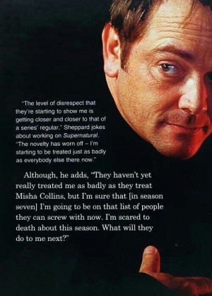Mark Sheppard - I know it's blasphemy to imply ill of J2, but the more ...