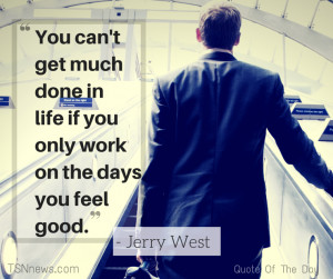 quote about working hard with a business man going up an escalator in ...