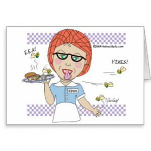 Lunch Lady - Nut Greeting Card