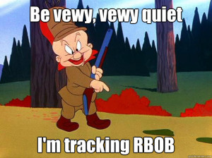 Elmer Fudd - be vewy vewy quiet im tracking rbob