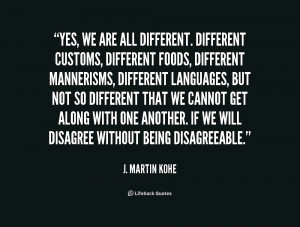 We Are Different Quotes