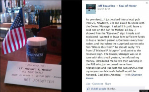 Michael P. Murphy, Fallen Navy SEAL, 'Buys' Beers On St. Patrick's Day ...