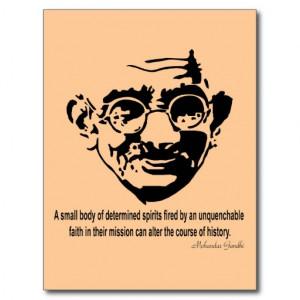 Gandhi Inspiration Quote - Faith Postcard