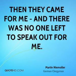 Martin Niemoller Quotes