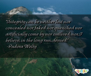 Integrity can be neither lost nor concealed