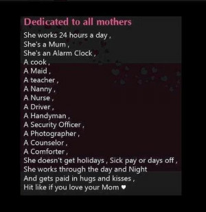 Dedicated to all mothers