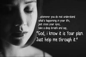 God, please help me through it all ♡
