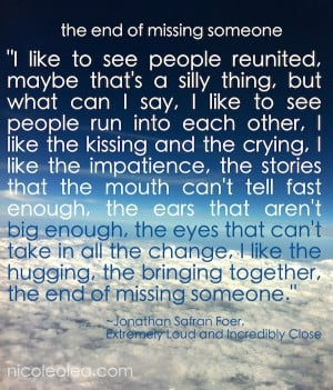 end of missing someone quote, clouds,