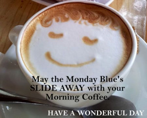 Monday Blue's coffee