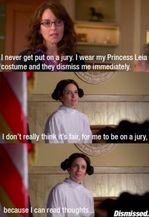 Tina Fey Princess Leia jury duty meme Imgur 30 Rock Liz Lemon
