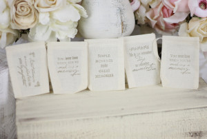 Wedding Candy Bar Sayings Wedding favor bags love quotes