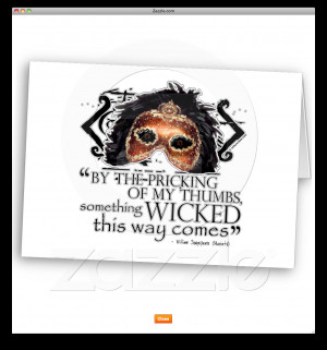 Macbeth Quotes Greeting Card