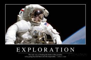 Exploration: Inspirational Quote and Motivational Poster Lámina ...