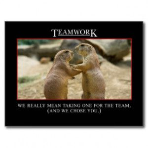 Motivational Quotes Teamwork Postcards
